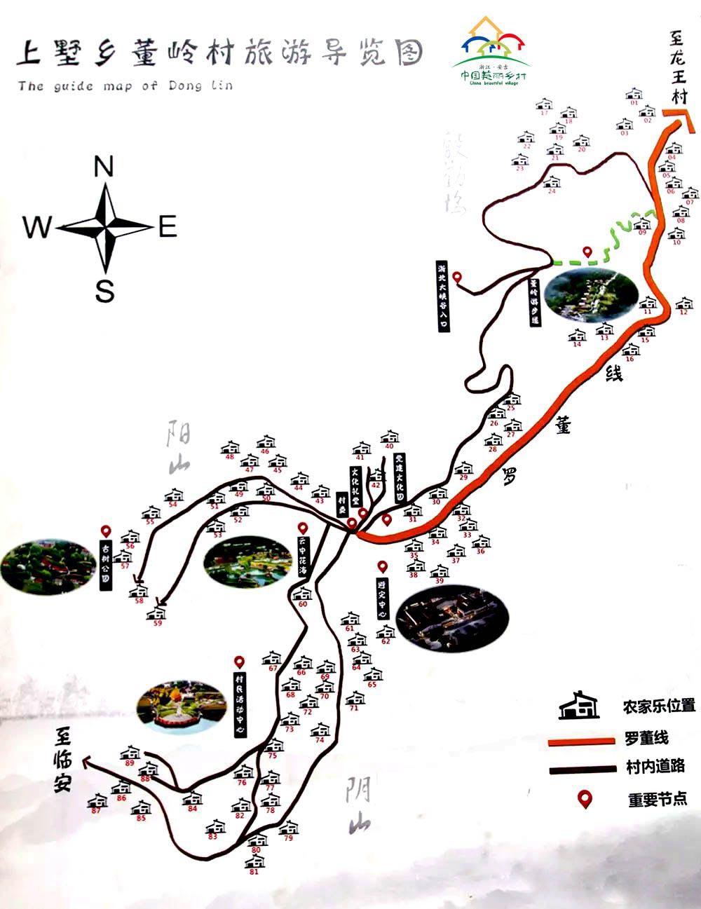 董岭村旅游图